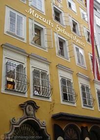 Mozart's House in Salzburg, where the famous composer born in 18th century